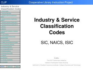 Industry Classification Codes