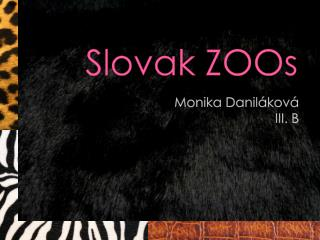 Slovak ZOOs