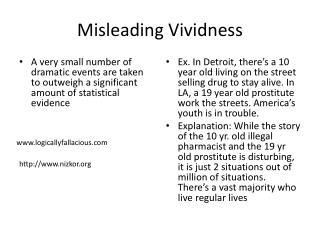 Misleading Vividness