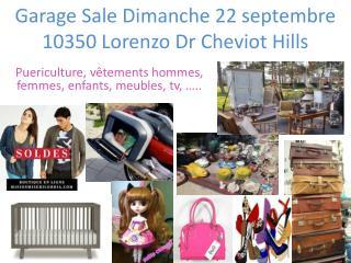 Garage Sale  Dimanche  22  septembre 10350 Lorenzo  Dr  Cheviot Hills