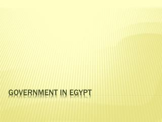 GOVERNMENT IN EGYPT