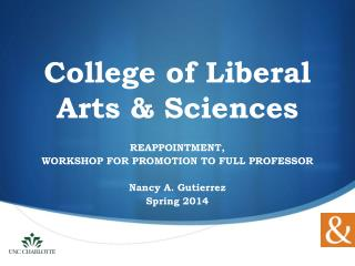 College of Liberal Arts & Sciences