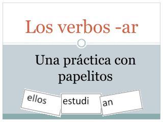 Los verbos -ar
