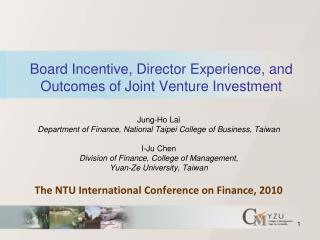 Board Incentive, Director Experience, and Outcomes of Joint Venture Investment
