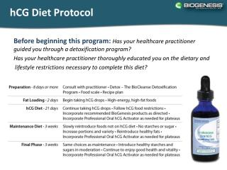 hCG  Diet Protocol