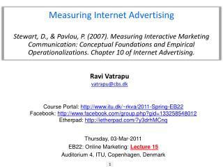 Measuring Internet Advertising