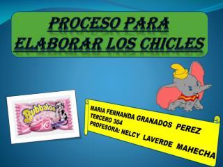 PROCESO PARA ELABORAR LOS CHICLES
