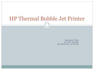 HP Thermal Bubble Jet Printer