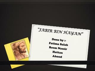 """""""JABIR BIN HAYAN"""""""