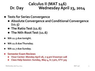 Calculus II (MAT 146) Dr. Day		Wednesday April 23, 2014