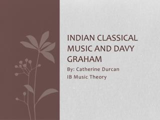 Indian Classical Music and Davy Graham