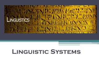 Linguistic Systems