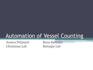 Automation of Vessel Counting