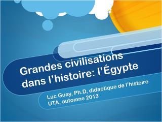 Grandes civilisations dans l'histoire : l'Égypte