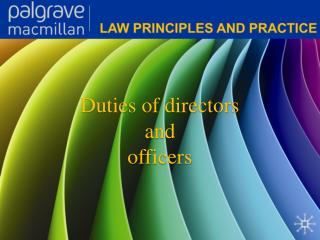 Duties of directors and officers