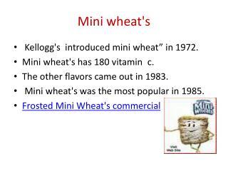 Mini wheat's