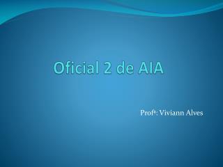 Oficial 2 de AIA