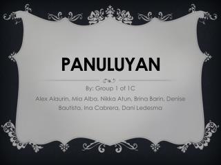 PANULUYA N