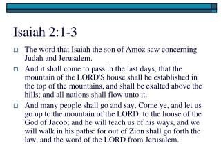 Isaiah 2:1-3