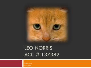Leo Norris Acc # 137382