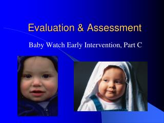 Evaluation & Assessment
