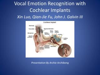 Vocal Emotion Recognition with Cochlear Implants