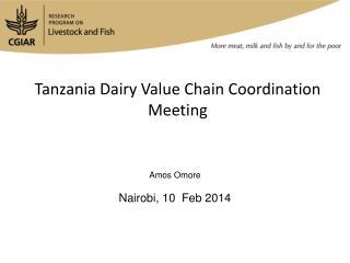 Tanzania  Dairy  Value  Chain Coordination  Meeting
