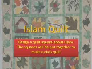 Islam Quilt