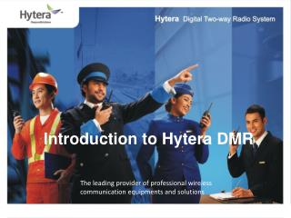 Introduction to Hytera DMR