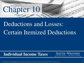 Deductions and Losses: Certain Itemized Deductions