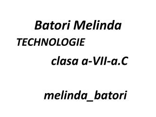Batori  Melinda