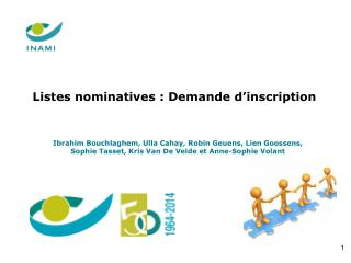 Listes nominatives :  Demande d'inscription