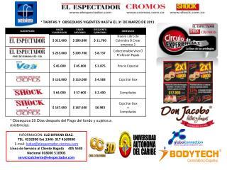 INFORMACION:  LUZ BIVIANA DIAZ. TEL .  4232300 Ext.1346- 317 4169090