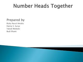 Number Heads Together