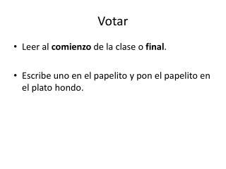 Votar