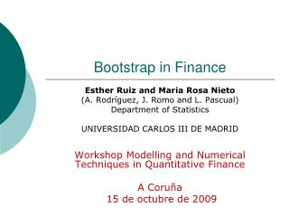 Bootstrap in Finance