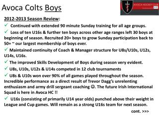 Avoca Colts  Boys