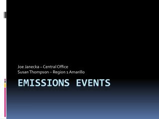 Emissions Events