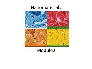 Nanomaterials Module2