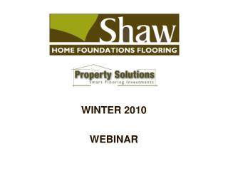 Shaw Webinar Presentation 2010