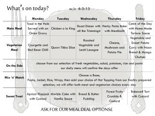 ASK FOR OUR MEAL DEAL OPTIONS£