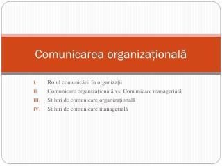 Comunicarea organiza ţională