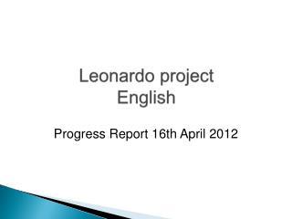 Leonardo project English