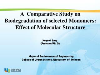 A   Comparative Study on Biodegradation  of  selected Monomers:  Effect  of Molecular  Structure