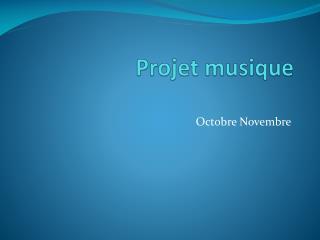 Projet musique