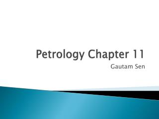 Petrology Chapter  11