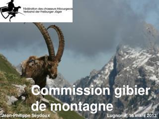 Commission gibier de montagne