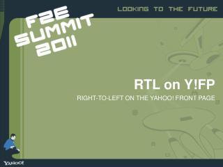 RTL on Y!FP