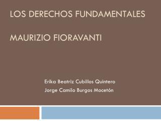 Los derechos fundamentales Maurizio fioravanti