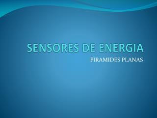 SENSORES DE ENERGIA